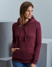 Ladies` Authentic Melange Hooded Sweat