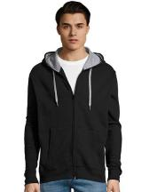 Contrasted Zipped Hooded Jacket Soul Men